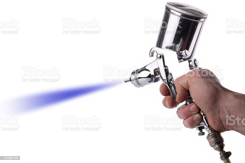 spray gun royalty-free stock photo