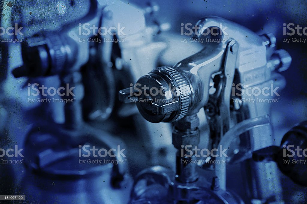 spray guns royalty-free stock photo