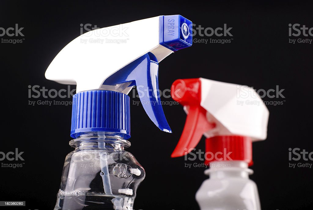 Spray liquid detergents royalty-free stock photo