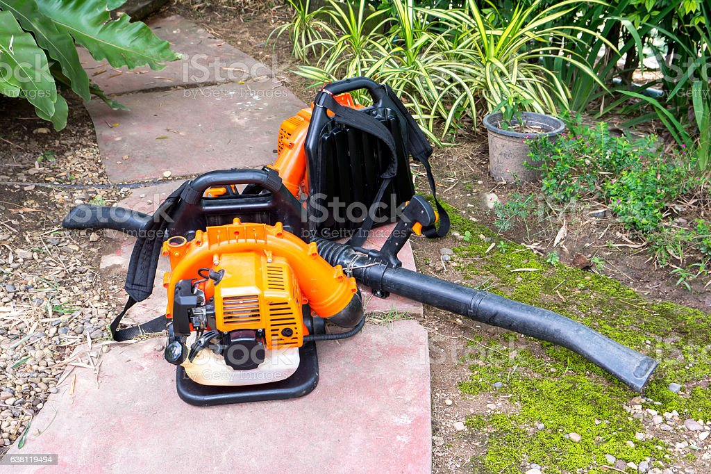 Spray mosquito repellent machine in the park.Mosquito spray mach machine stock photo