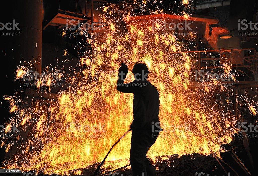 spray of molten iron royalty-free stock photo