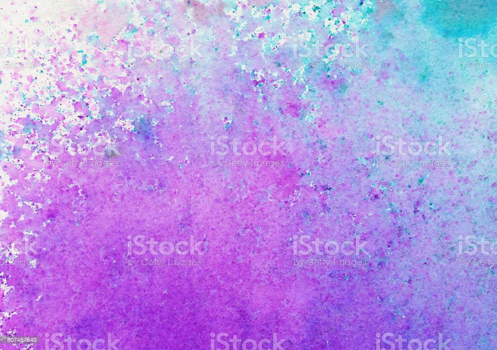 Spray of purple pink and blue paint with color gradient vector art illustration