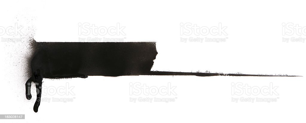 Spray Paint Banner royalty-free stock photo
