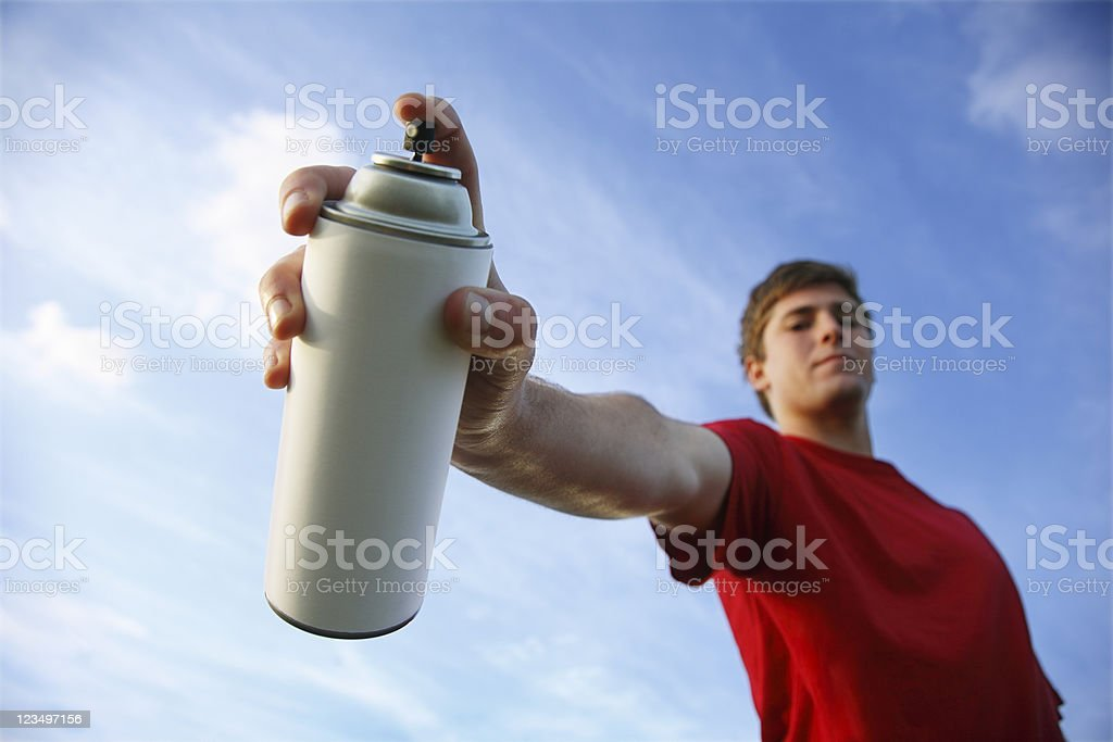 Spray Paint Can royalty-free stock photo