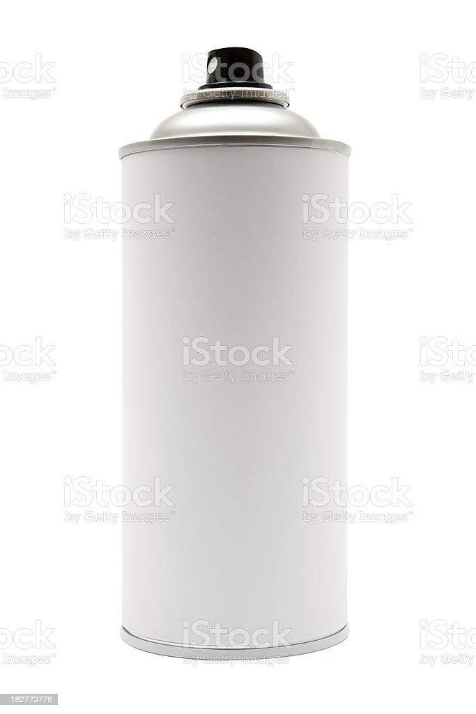 Spray Paint Can (Clipping Path Included) stock photo