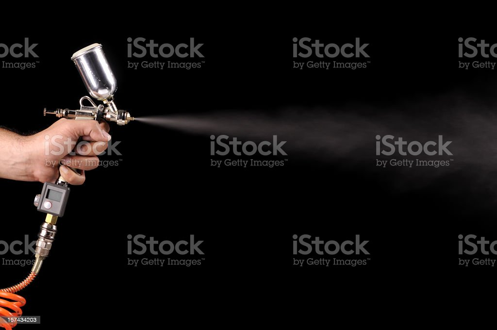 Spray Paint Gun royalty-free stock photo
