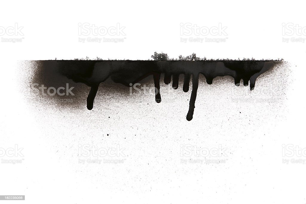 Spray Paint Runs stock photo