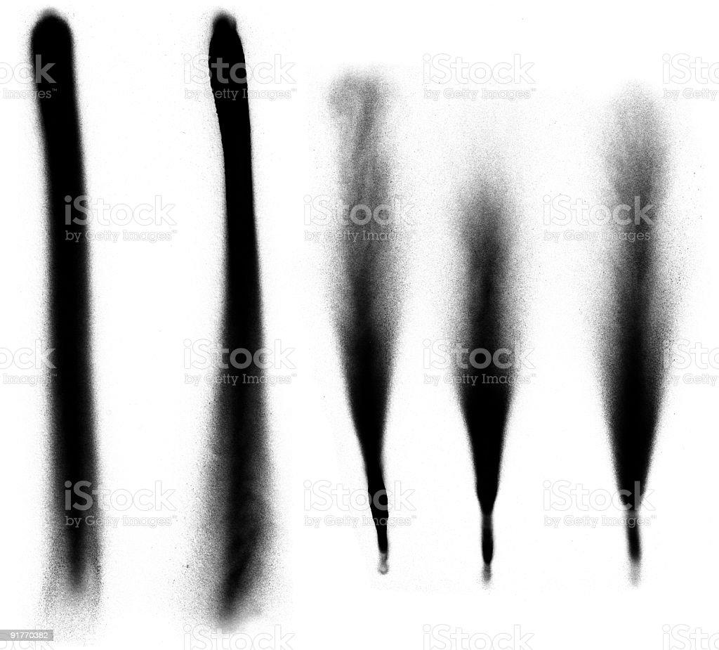 Spray Painted Flares stock photo