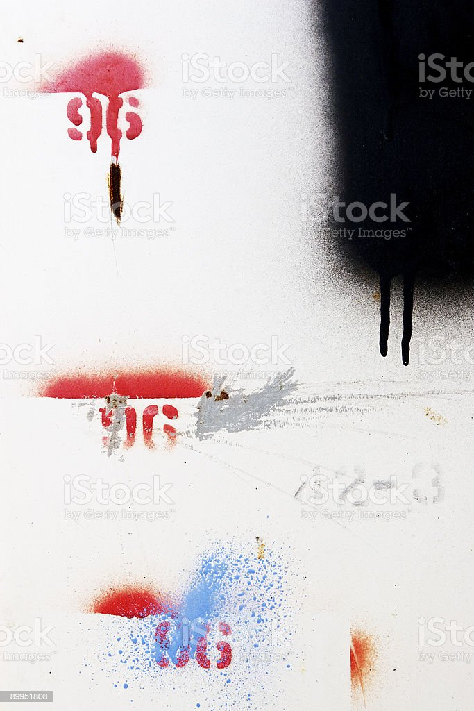 spray painted numbers royalty-free stock photo