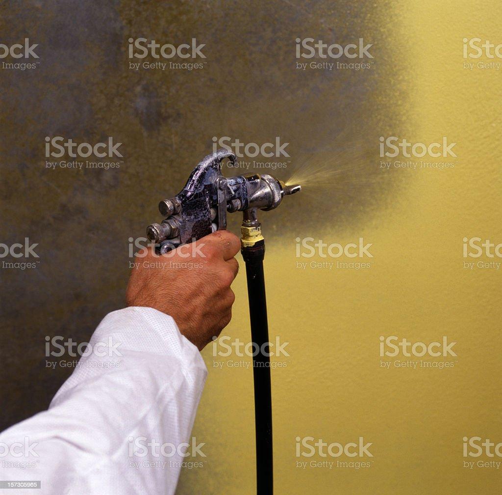 Spray Painting Closeup stock photo