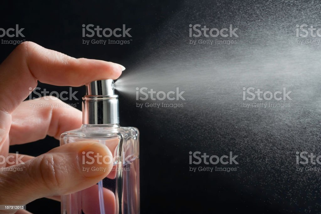 Spray Perfume stock photo