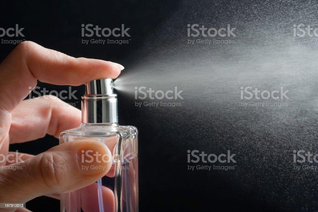 Spray Perfume stock photo
