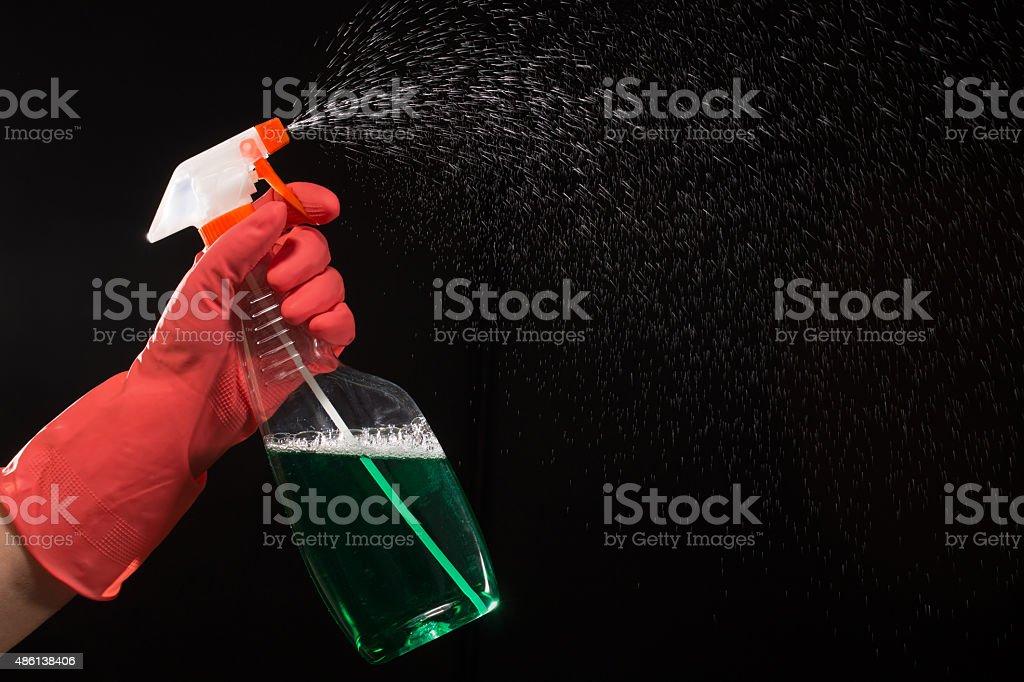 Spray splashing with a liquid stock photo