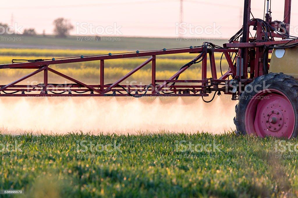 Spraying machine stock photo