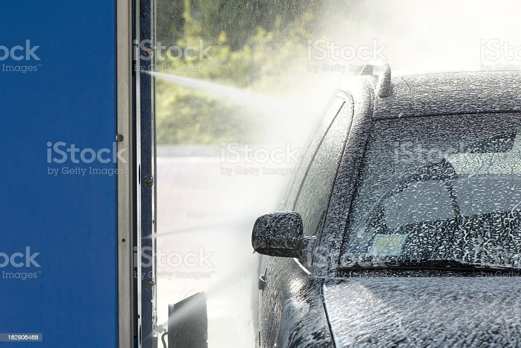 Spraying soap stock photo