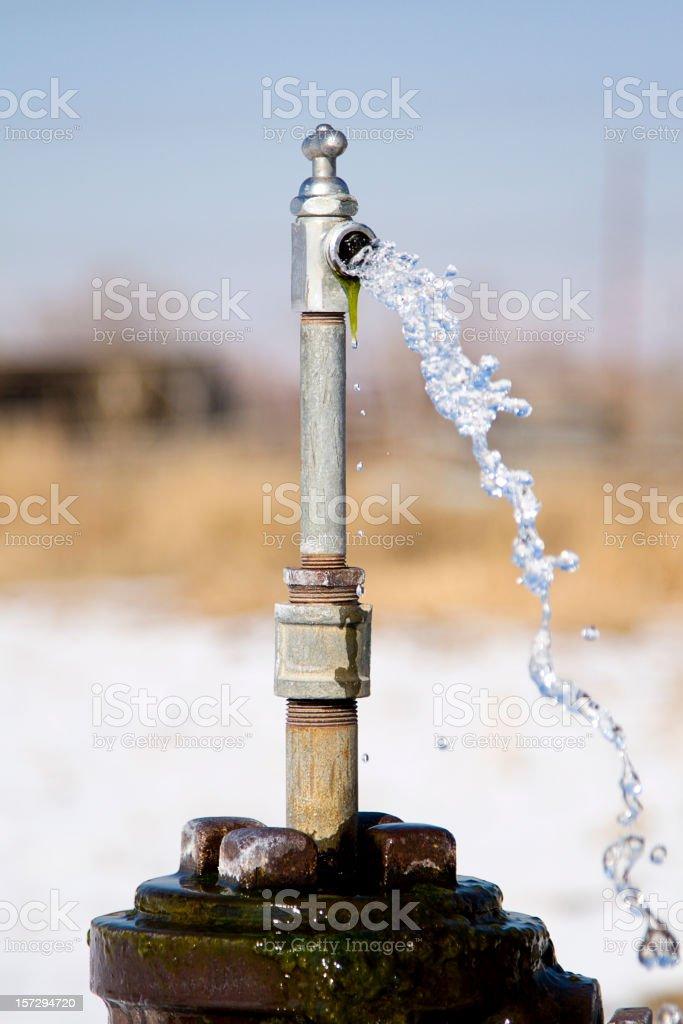 Spraying Water Faucet royalty-free stock photo
