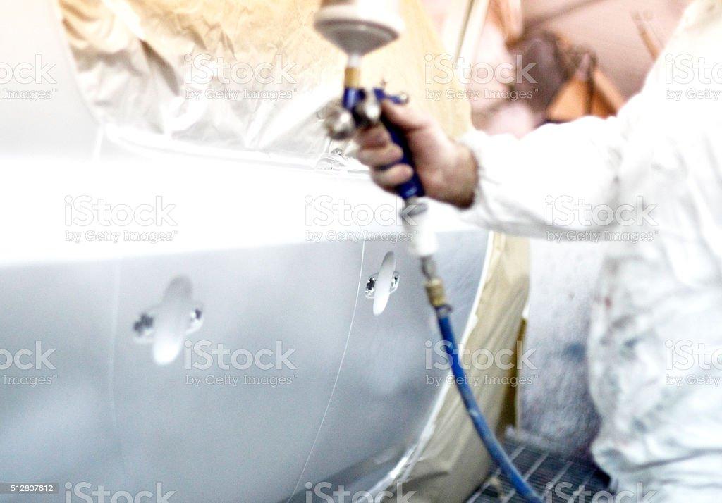 Spraypainting stock photo
