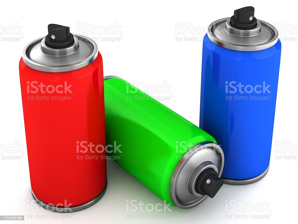 RGB Sprays royalty-free stock photo