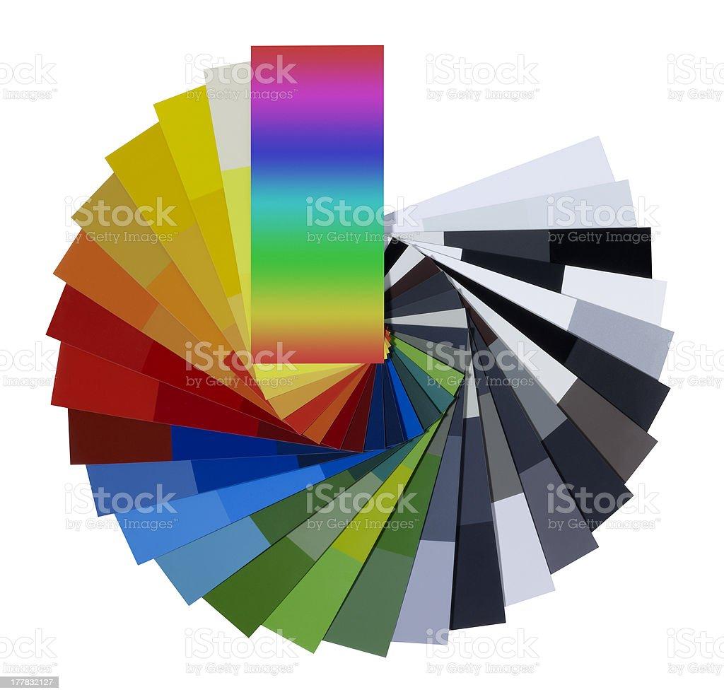 spread color chart stock photo