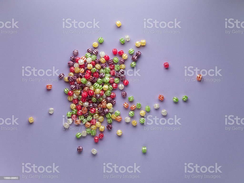 spread of vibrant hard candy royalty-free stock photo