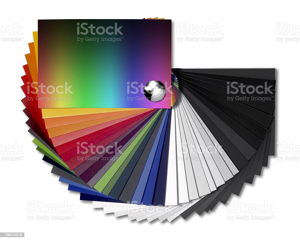 spread out color chart stock photo
