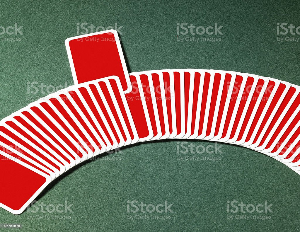 spread out playing cards stock photo