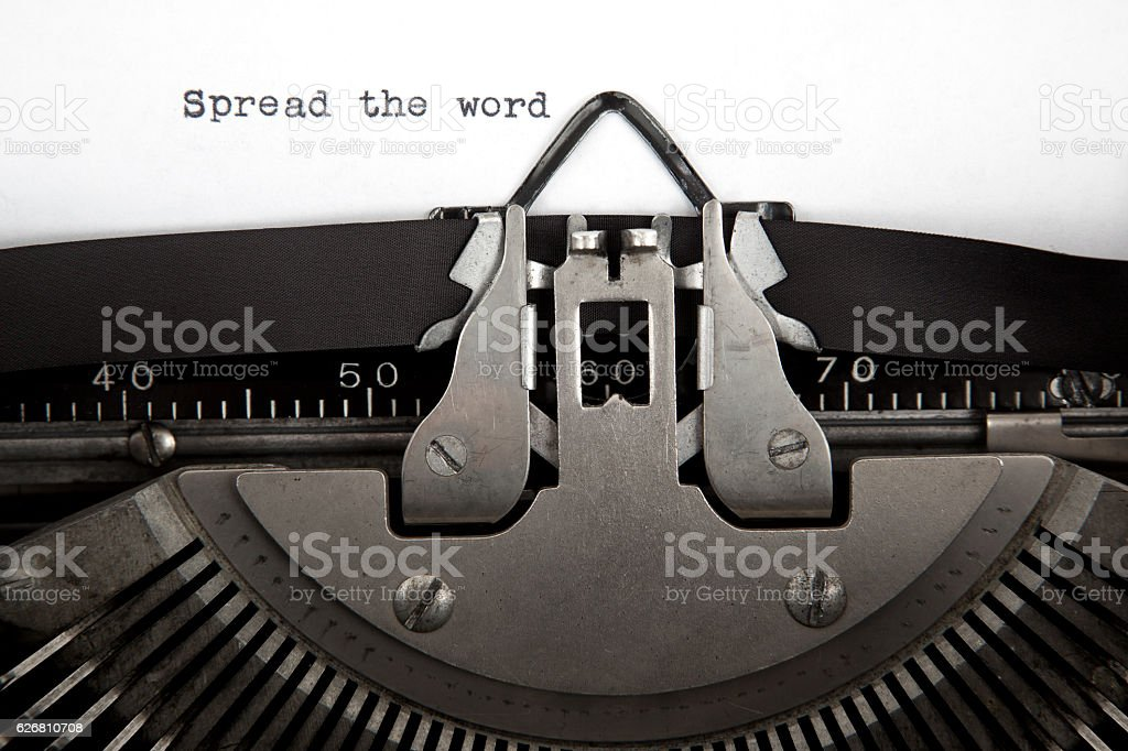 Spread The Word Communication Concept stock photo