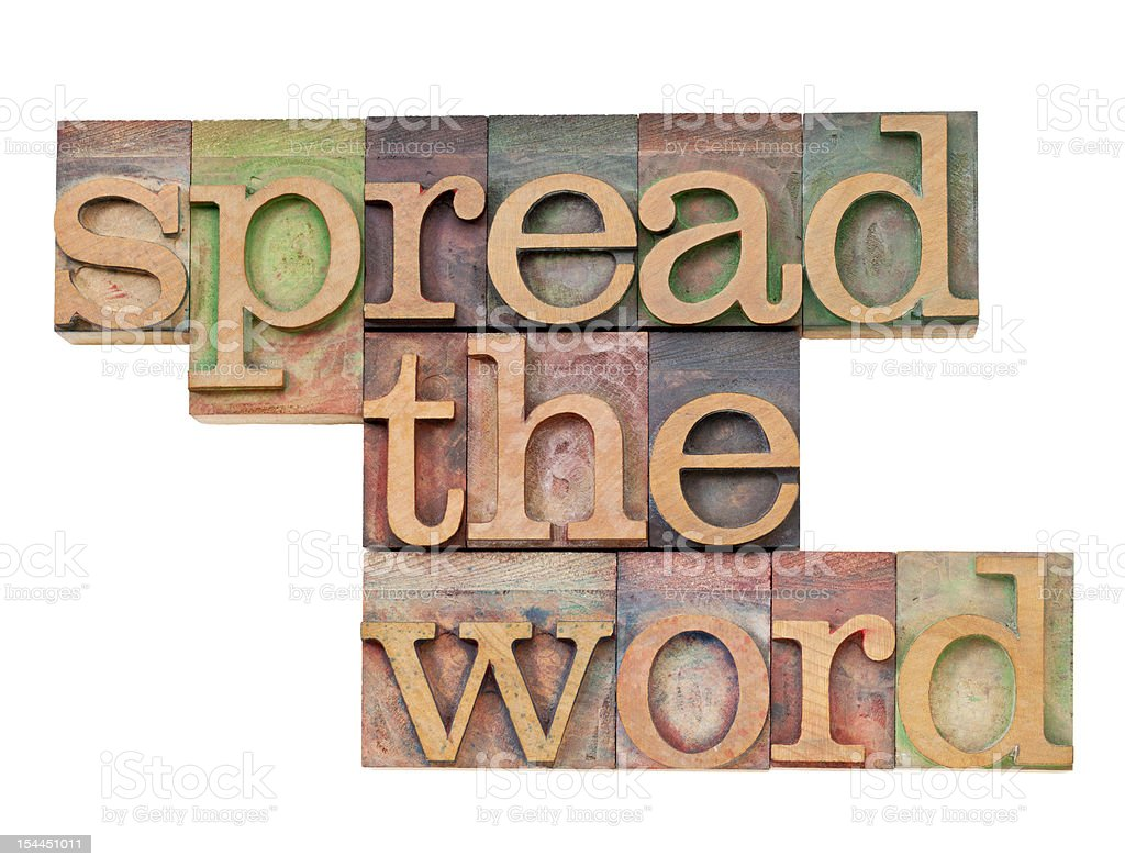 spread the word stock photo