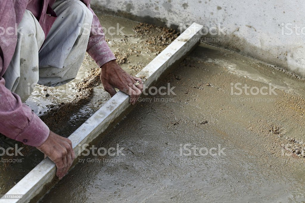 Spreading Gravel royalty-free stock photo