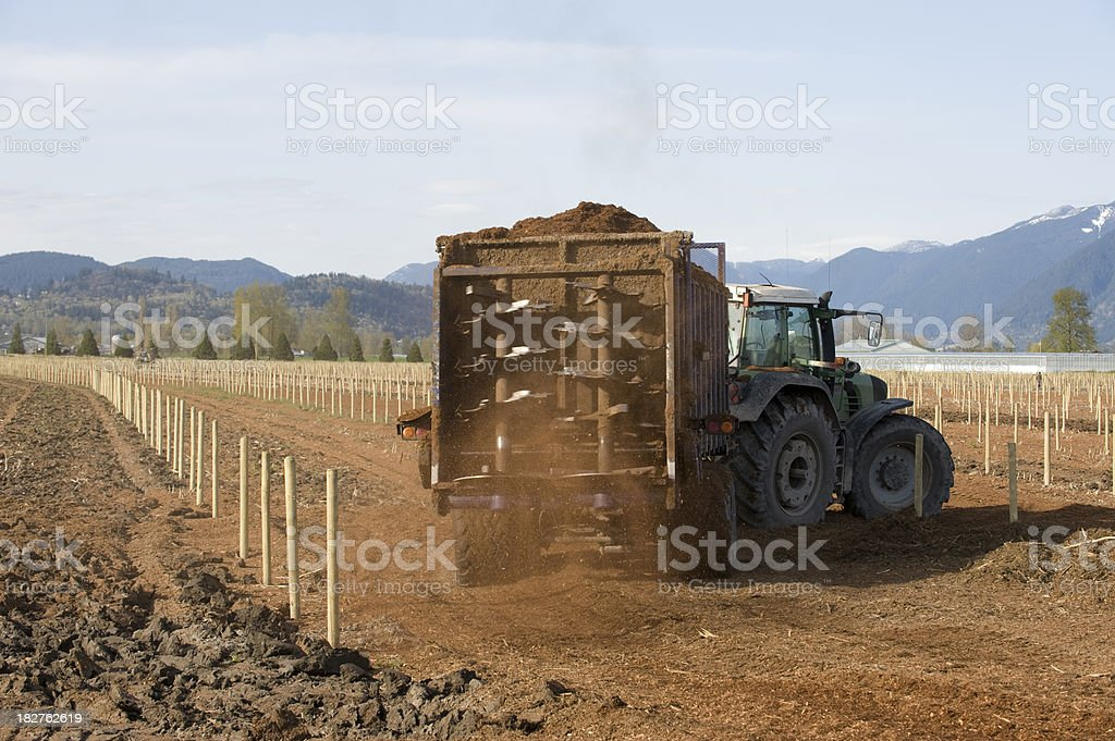 Spreading Peat stock photo