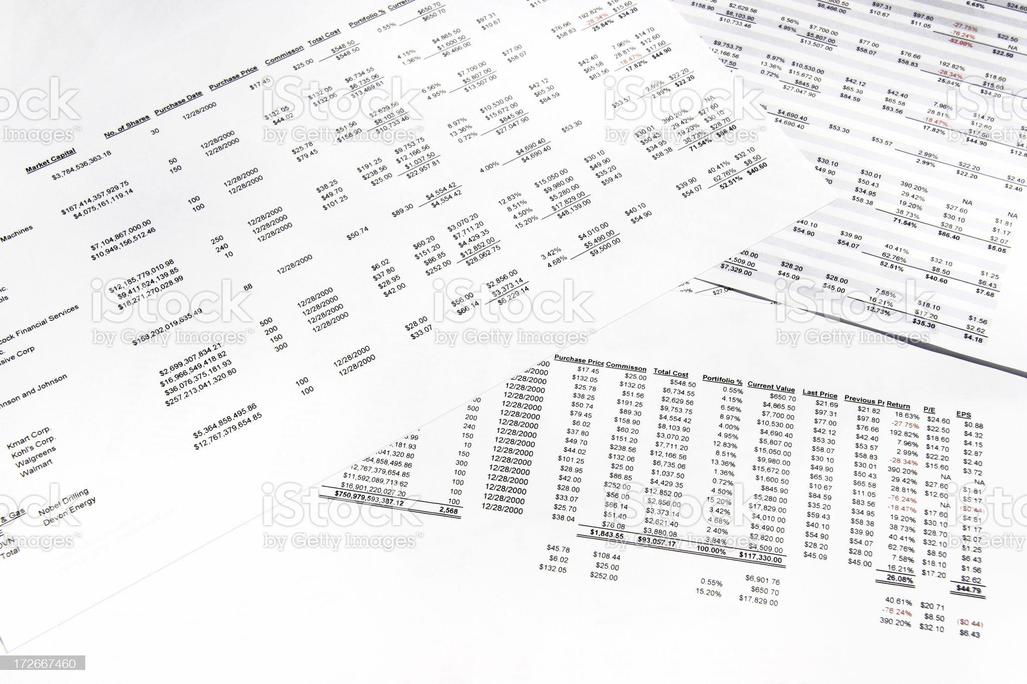 Spreadsheets - 01 royalty-free stock photo