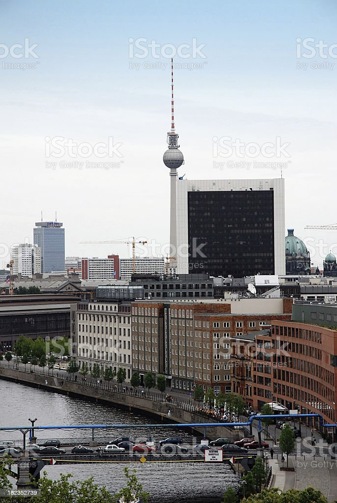 Spree river in Berlin royalty-free stock photo