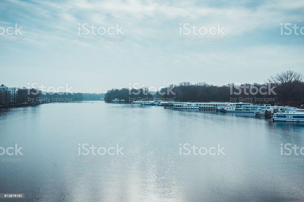 spree river stock photo