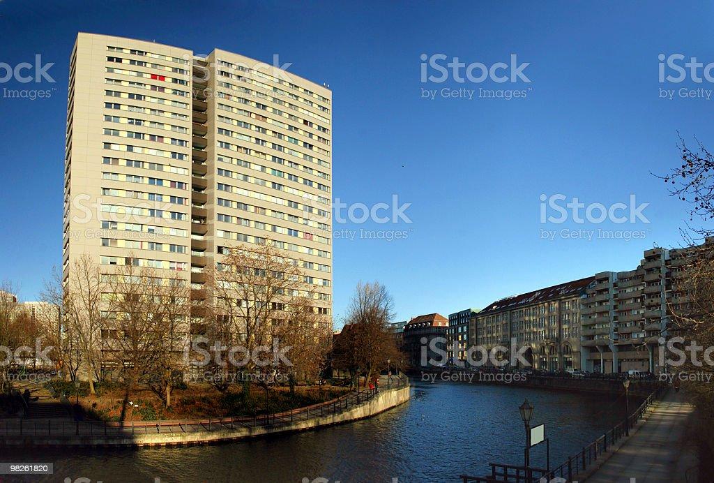 Spree und Fischerinsel in Berlin royalty-free stock photo