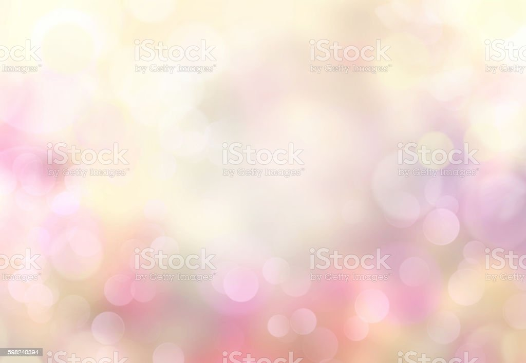 Spring abstract blurred bokeh light yellow background. stock photo