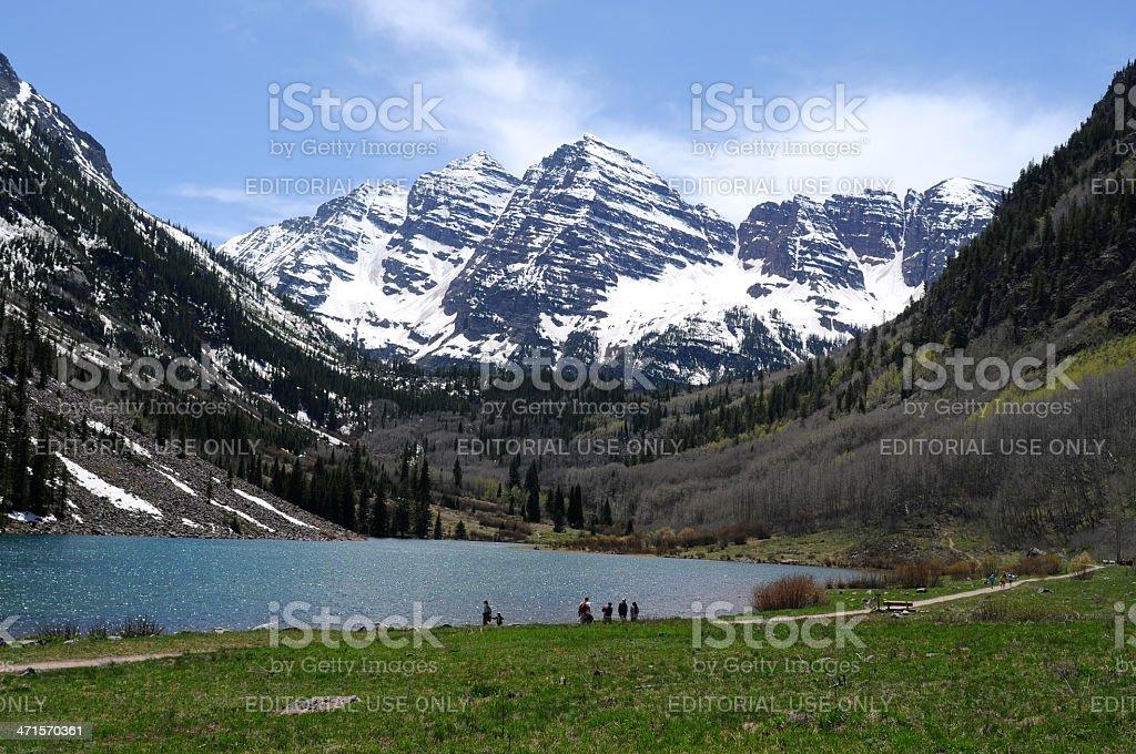 Spring at Maroon Lake royalty-free stock photo