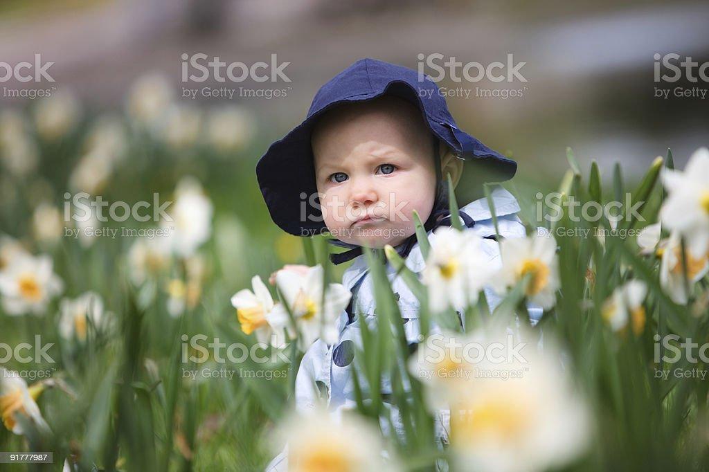 Spring Baby Girl royalty-free stock photo