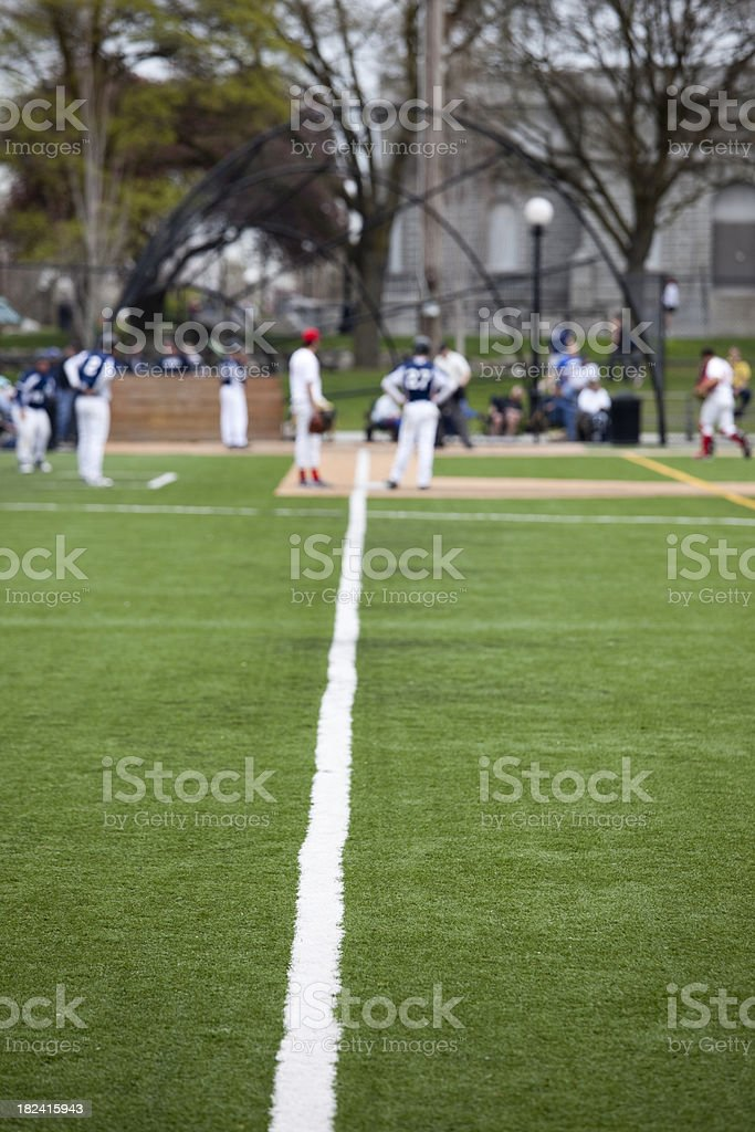 Spring Baseball Season Players on the Field stock photo