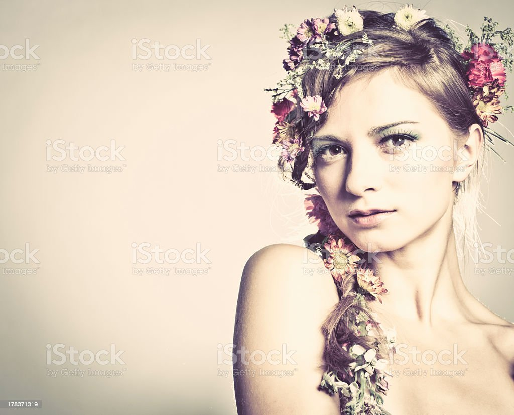 Spring beauty royalty-free stock photo