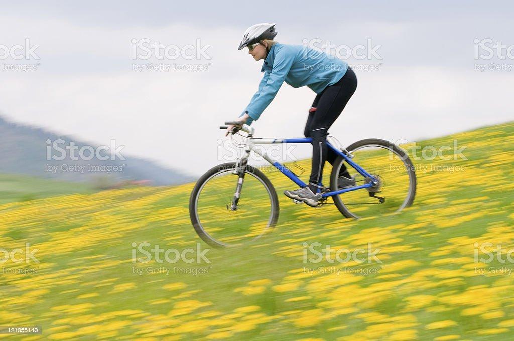 Spring bike riding royalty-free stock photo