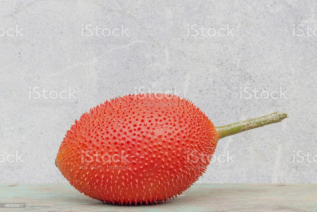 Spring Bitter Cucumber ( Momordica cochinchinensis Spreng.) royalty-free stock photo