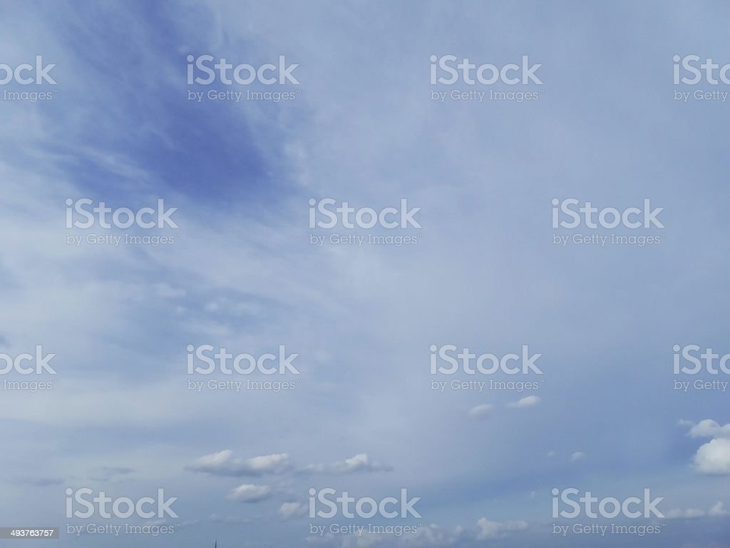 Spring blue and white clouds royalty-free stock photo