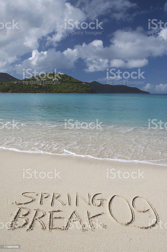 Spring Break 09 Beach stock photo
