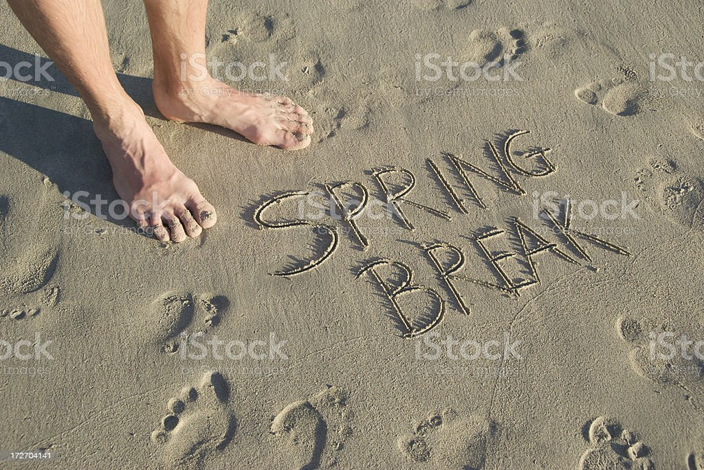 Spring Break Afoot royalty-free stock photo