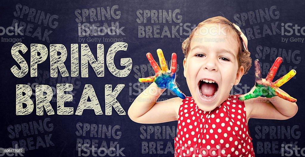 Spring break coming stock photo