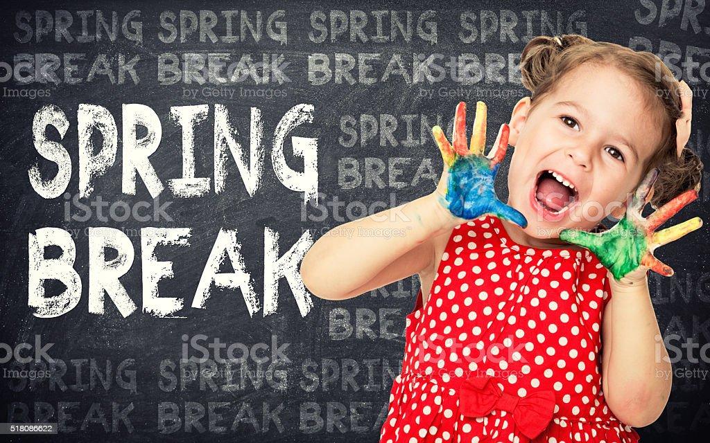 Spring break concept stock photo