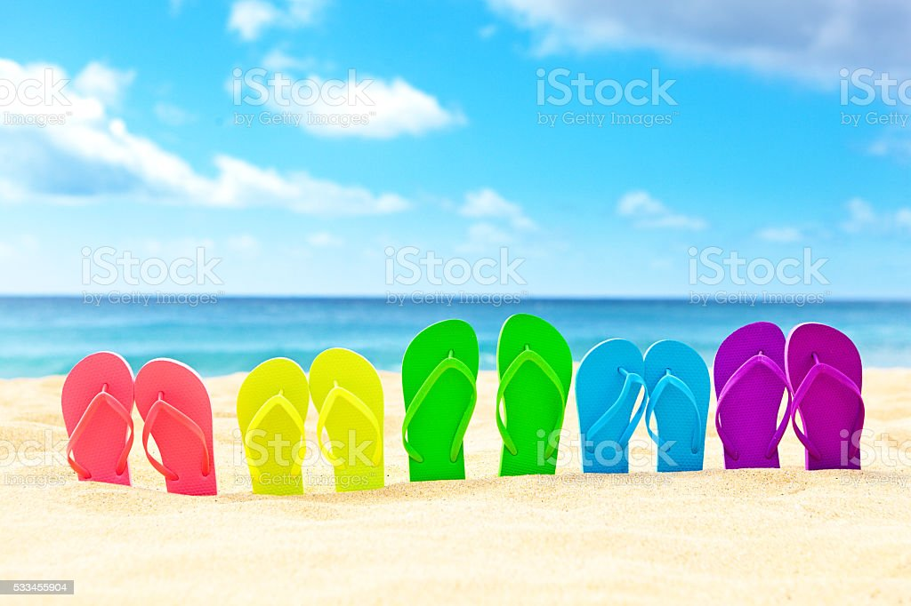 Spring Break Party vacation on the Beach stock photo