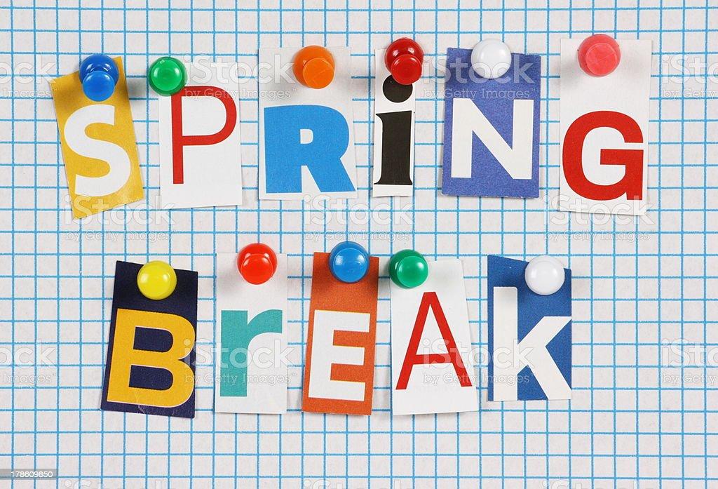 Spring Break stock photo