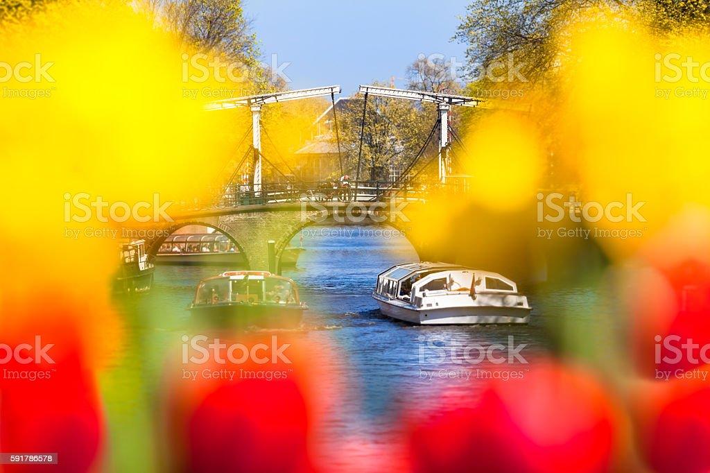 Spring City Break Amsterdam stock photo