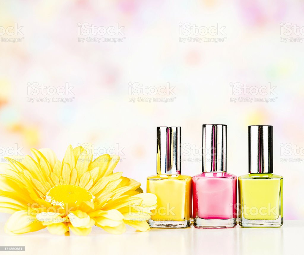 Spring Colored Nail Polish royalty-free stock photo